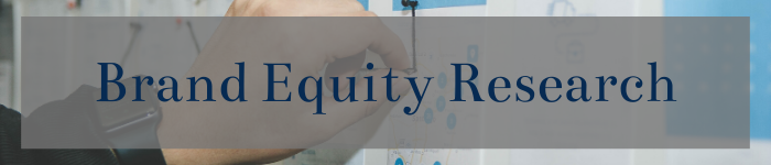 image of hand writing on white board with a gray translucent overlay and the words Brand Equity Research
