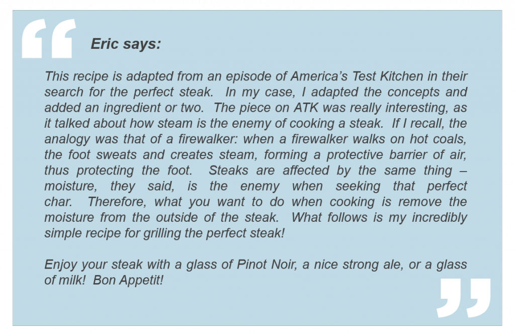 Eric's grill tips