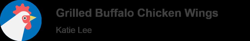 Grilled Buffalo Chicken Wings