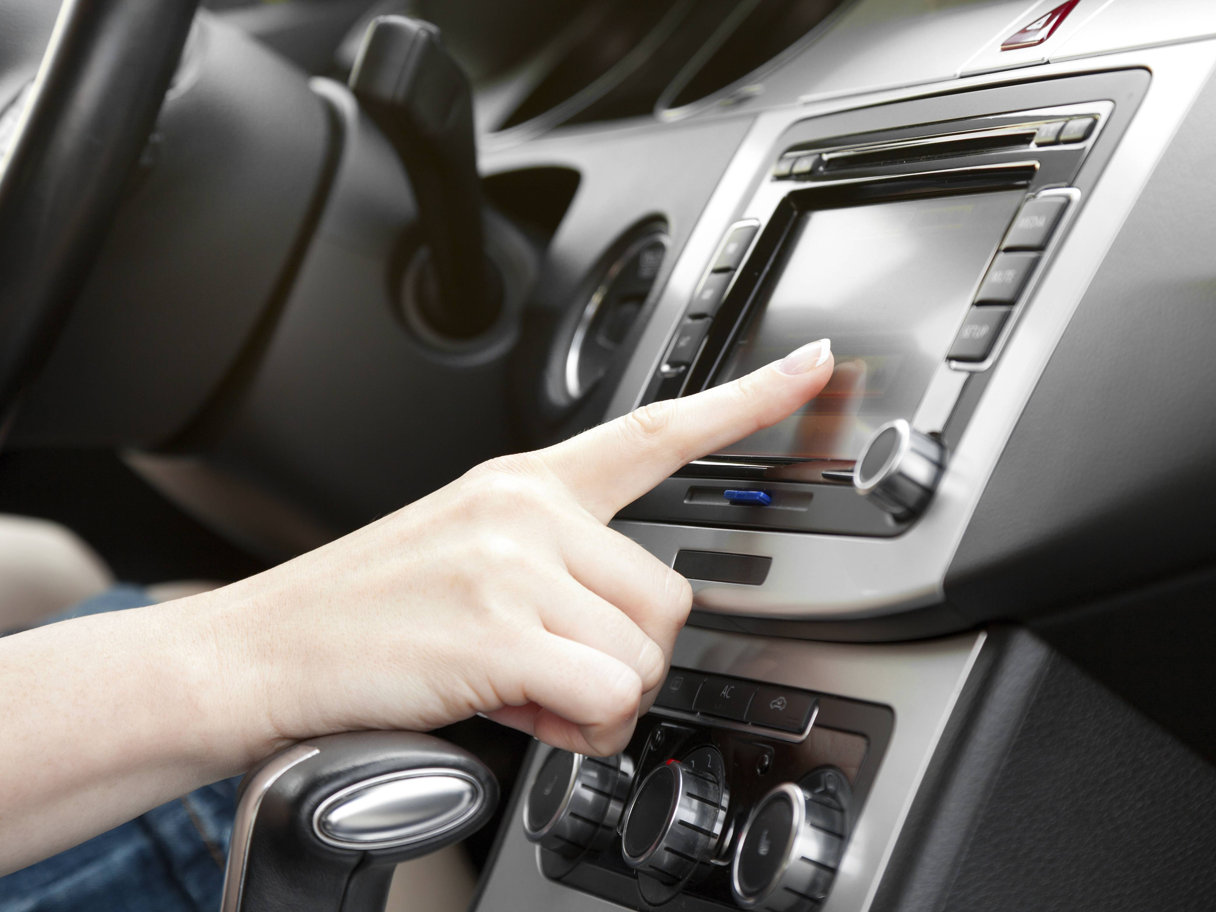 finger on dashboard with gps panel- category expertise for brand and retail market shares