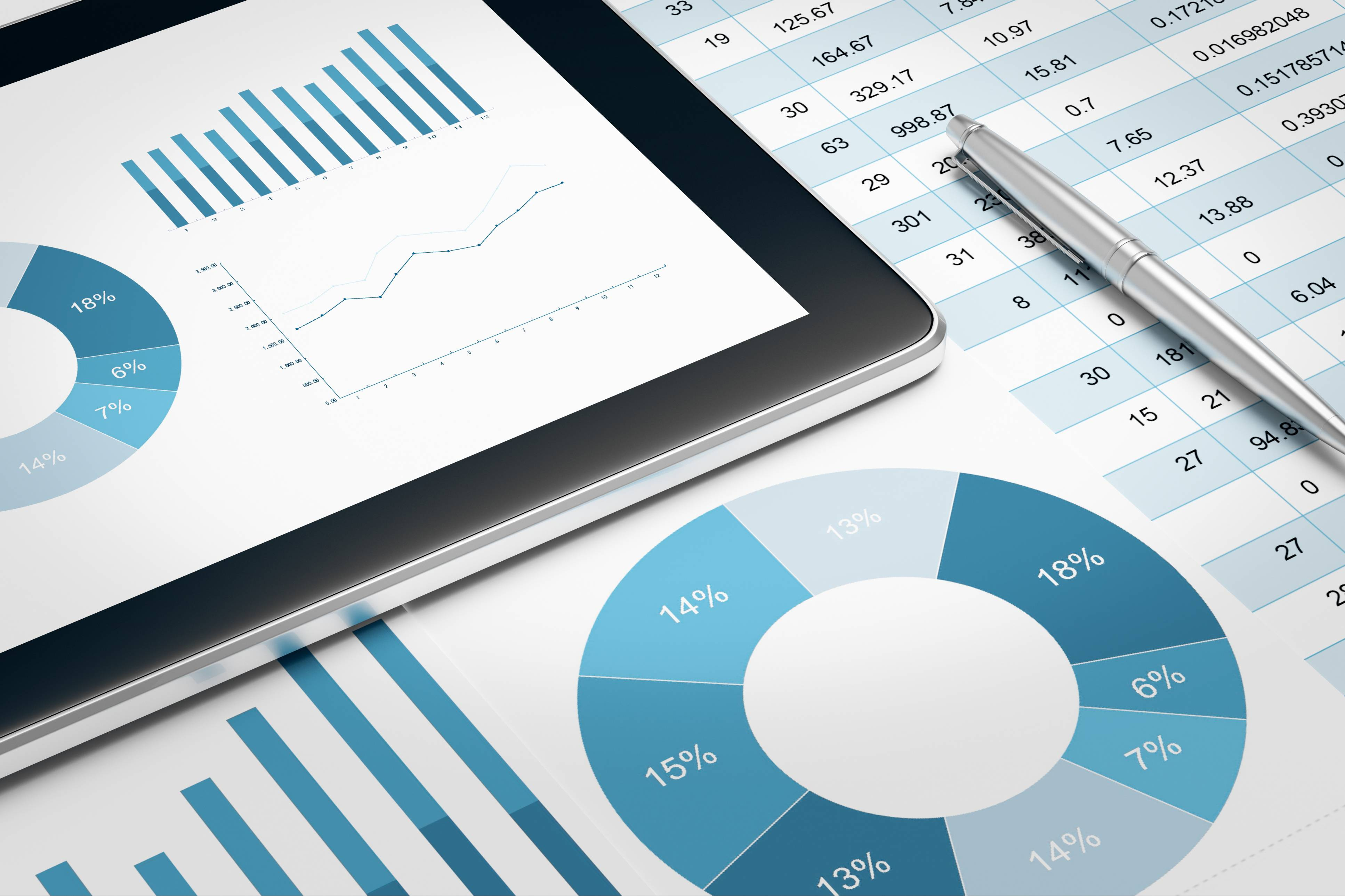 tablet and financial report- retail and brand market shares