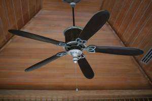 brown electric ceiling fan